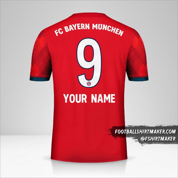 FC Bayern Munchen 2018/19 shirt number 9 your name