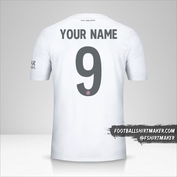 FC Bayern Munchen shirt 2019/20 Cup II number 9 your name