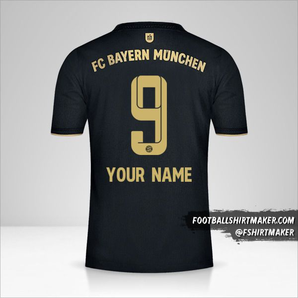 FC Bayern Munchen 2021/2022 II shirt number 9 your name