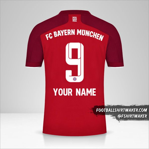 FC Bayern Munchen 2021/2022 shirt number 9 your name