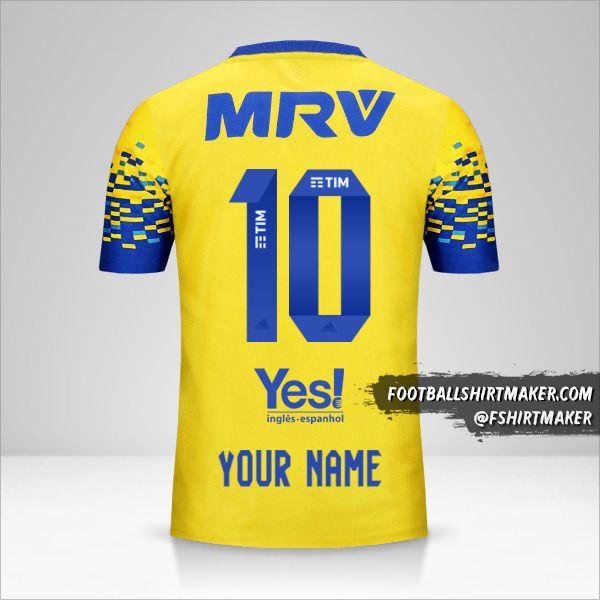 Flamengo 2017/18 III shirt number 10 your name