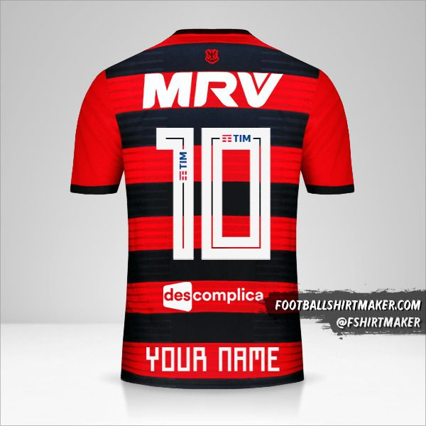 Flamengo 2018/19 shirt number 10 your name