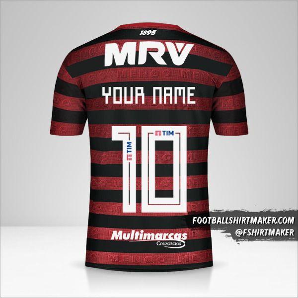 Flamengo Libertadores 2019 shirt number 10 your name