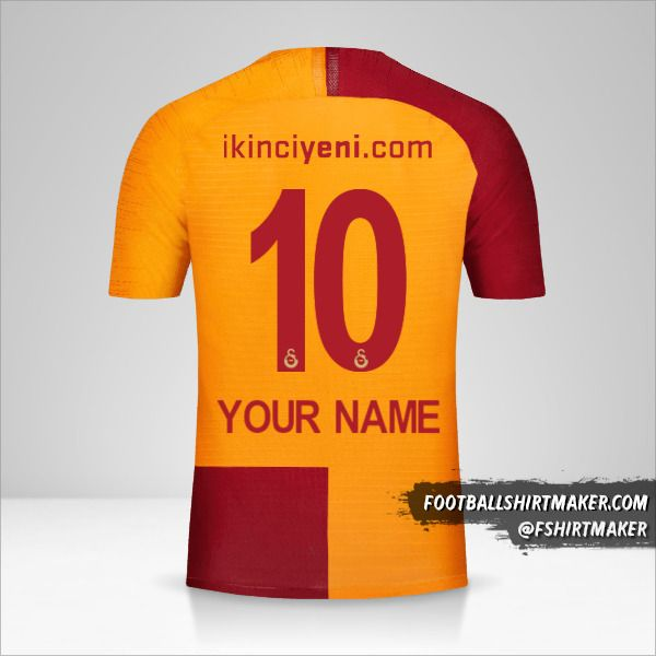 Galatasaray SK 2018/19 shirt number 10 your name