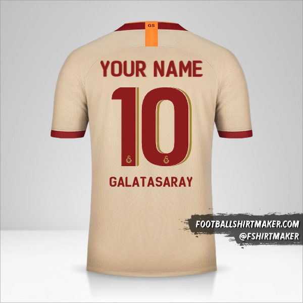 Galatasaray SK shirt 2019/20 Cup II number 10 your name
