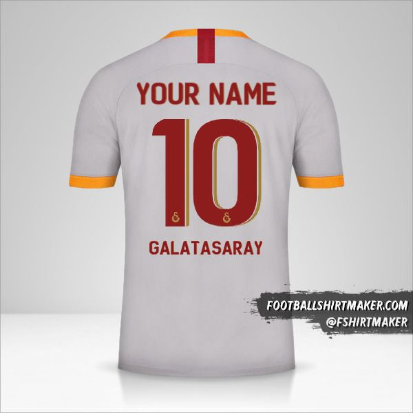 Galatasaray SK shirt 2019/20 Cup III number 10 your name