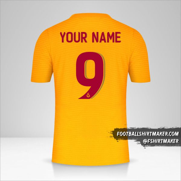 Galatasaray SK 2021/2022 Cup shirt number 9 your name