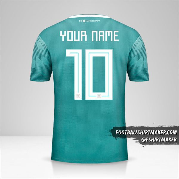 Germany 2018 II shirt number 10 your name