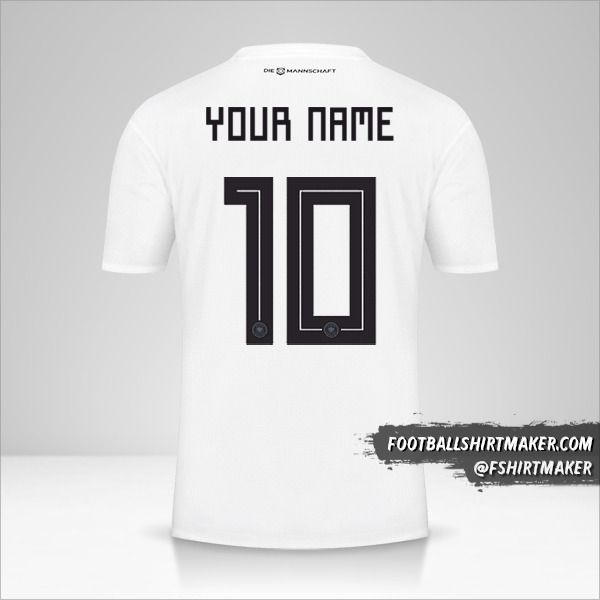 Germany 2018 shirt number 10 your name