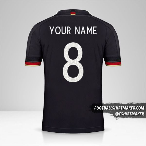 Germany 2021 II shirt number 8 your name