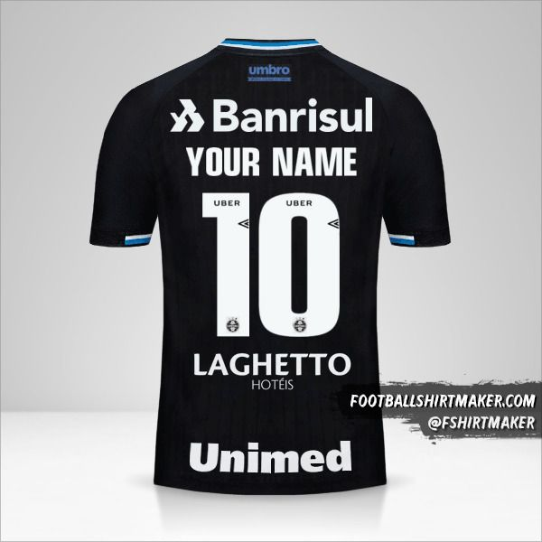 Gremio 2018 III shirt number 10 your name
