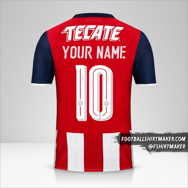 Guadalajara 2016/17 shirt number 10 your name