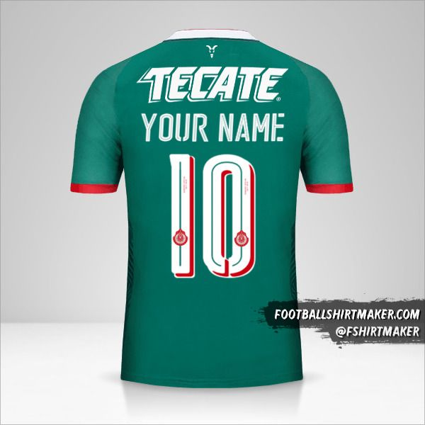 Guadalajara 2017/18 III shirt number 10 your name