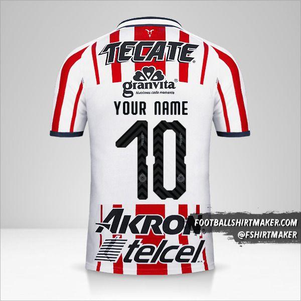 Guadalajara 2018/19 shirt number 10 your name