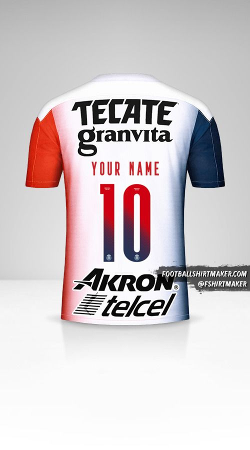 Guadalajara 2020/21 II shirt number 10 your name