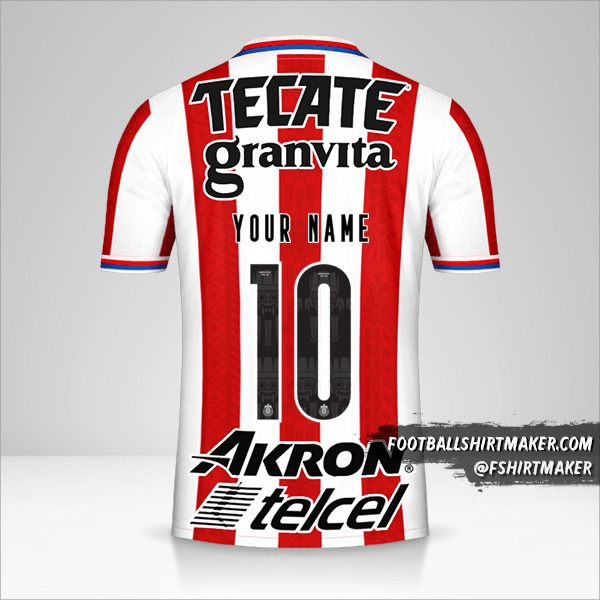 Guadalajara 2020/21 shirt number 10 your name