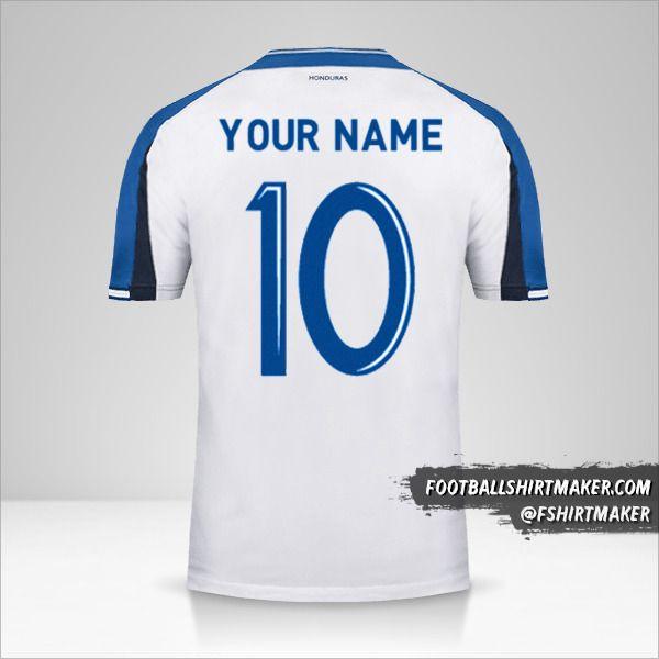 Honduras 2016/17 shirt number 10 your name