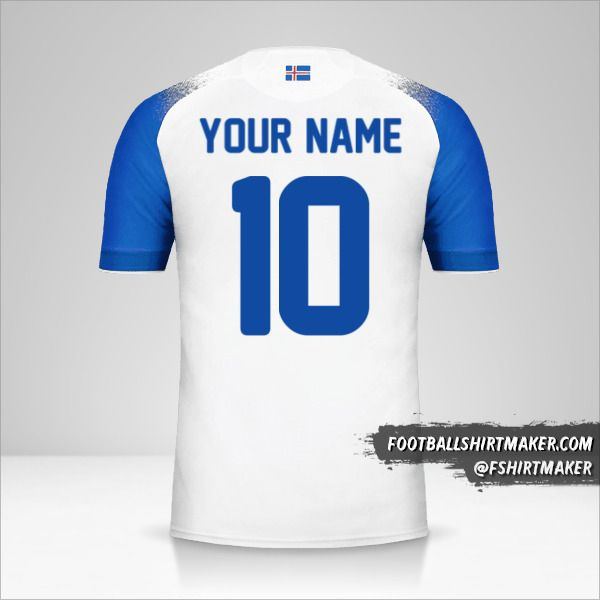 Iceland 2018 II shirt number 10 your name