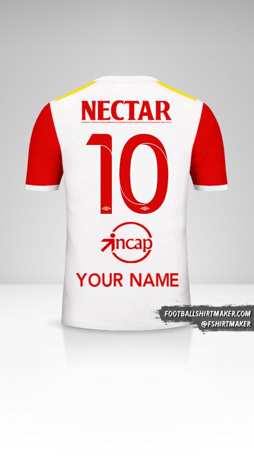 Independiente Santa Fe 2017 II shirt number 10 your name
