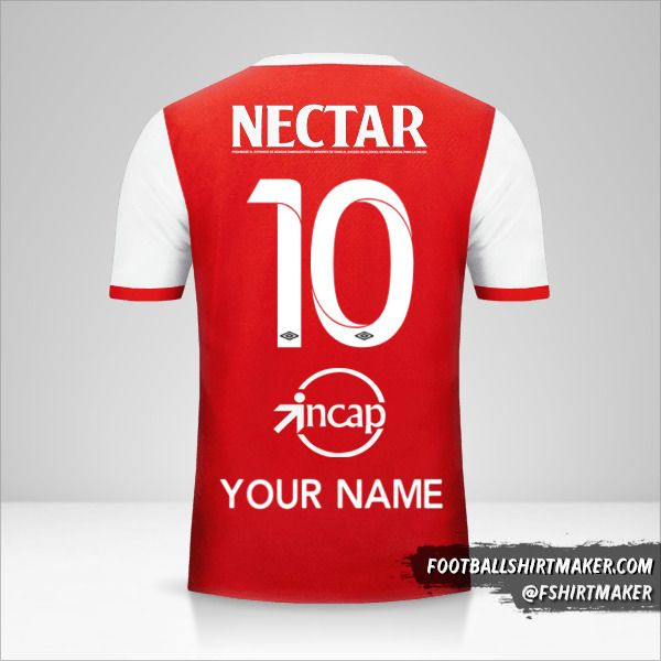 Independiente Santa Fe 2017 shirt number 10 your name