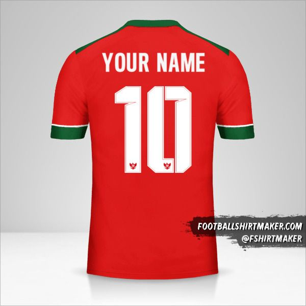 Indonesia 2016/17 shirt number 10 your name