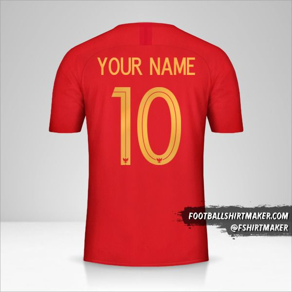 Indonesia 2018 shirt number 10 your name