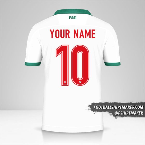 Indonesia 2020/21 II shirt number 10 your name