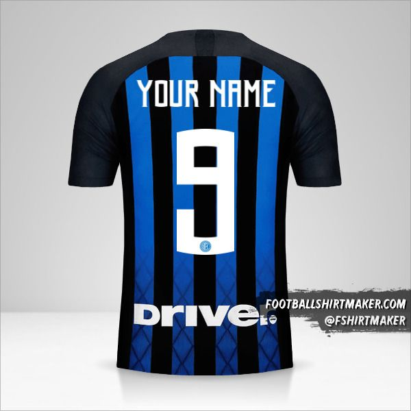 Inter 2018/19 shirt number 9 your name