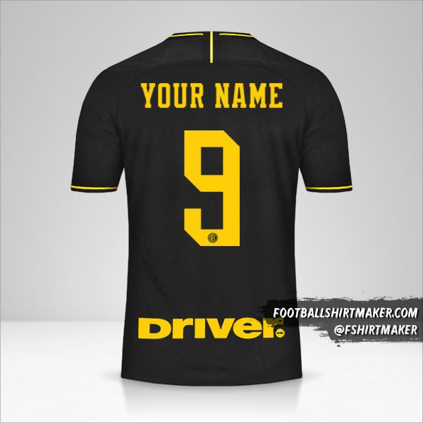 Inter 2019/20 III shirt number 9 your name