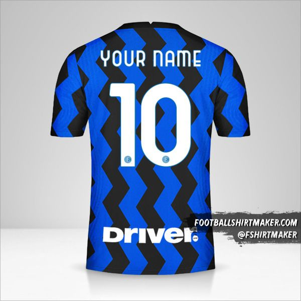 Inter 2020/21 shirt number 10 your name