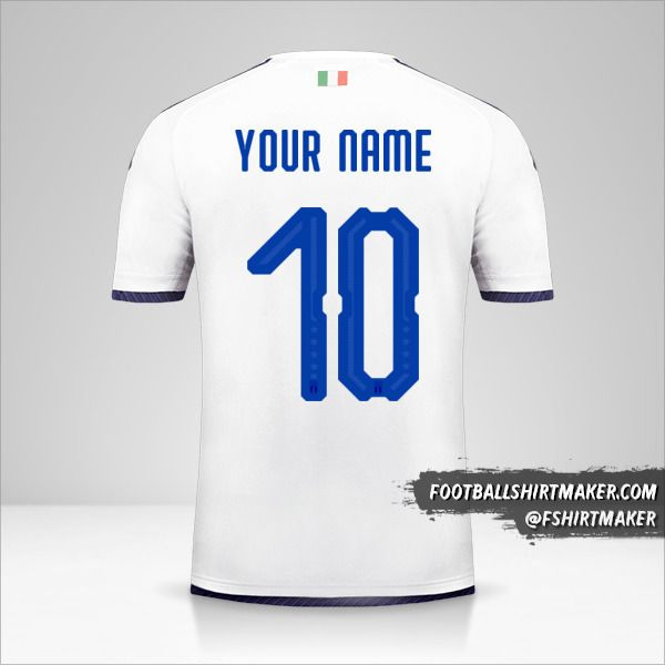 Italy 2018 II shirt number 10 your name