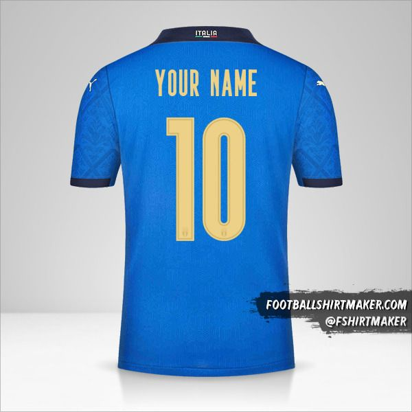 Italy 2020/2021 shirt number 10 your name
