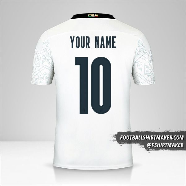 Italy 2020 II shirt number 10 your name