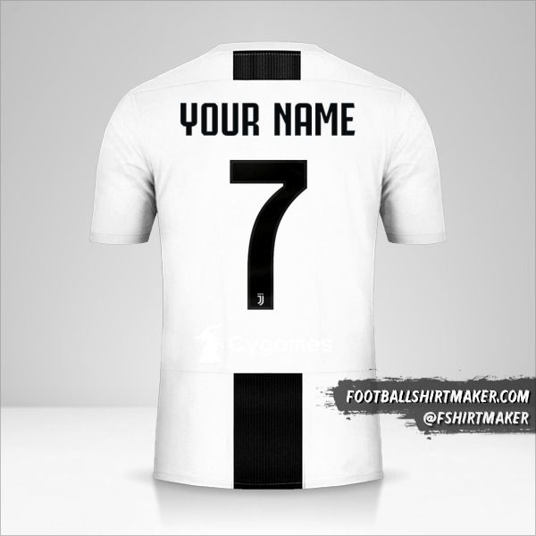 Juventus FC 2018/19 Cup shirt number 7 your name