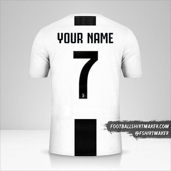 Juventus FC 2018/19 Cup shirt number 7 your name