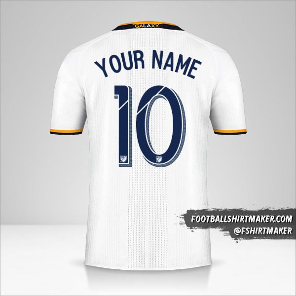 LA Galaxy 2016/17 shirt number 10 your name