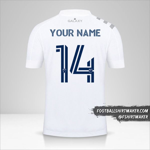 LA Galaxy 2020 shirt number 14 your name