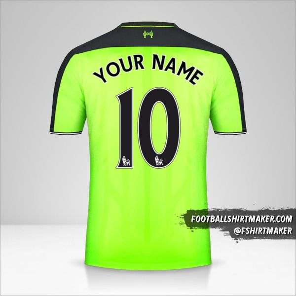 Liverpool FC 2016/17 III shirt number 10 your name