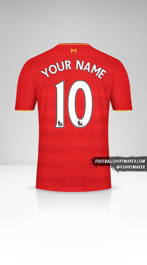 Liverpool FC 2016/17 shirt number 10 your name