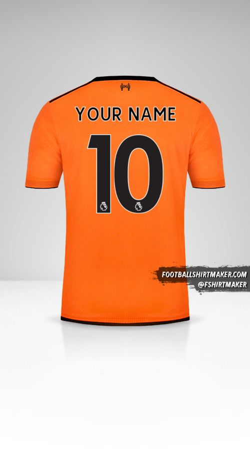 Liverpool FC 2017/18 III shirt number 10 your name