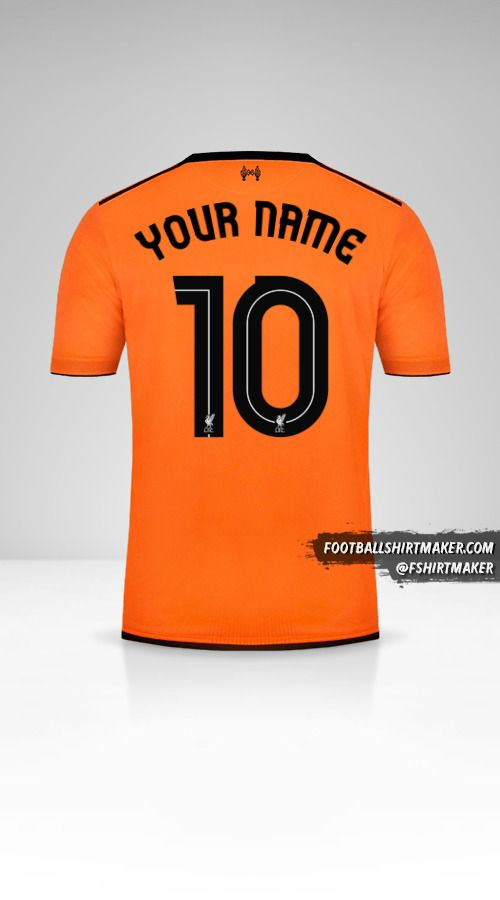 Liverpool FC 2017/18 Cup III shirt number 10 your name