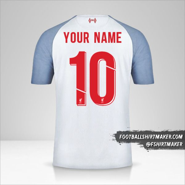 Liverpool FC 2018/19 Cup III shirt number 10 your name