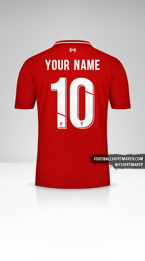 Liverpool FC 2018/19 Cup shirt number 10 your name