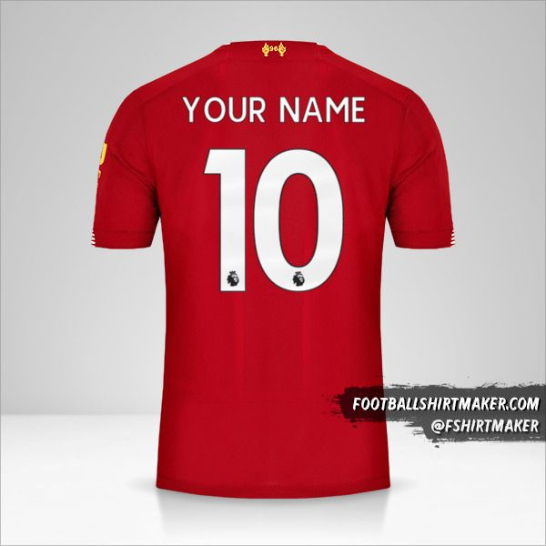 Liverpool FC 2019/20 shirt number 10 your name