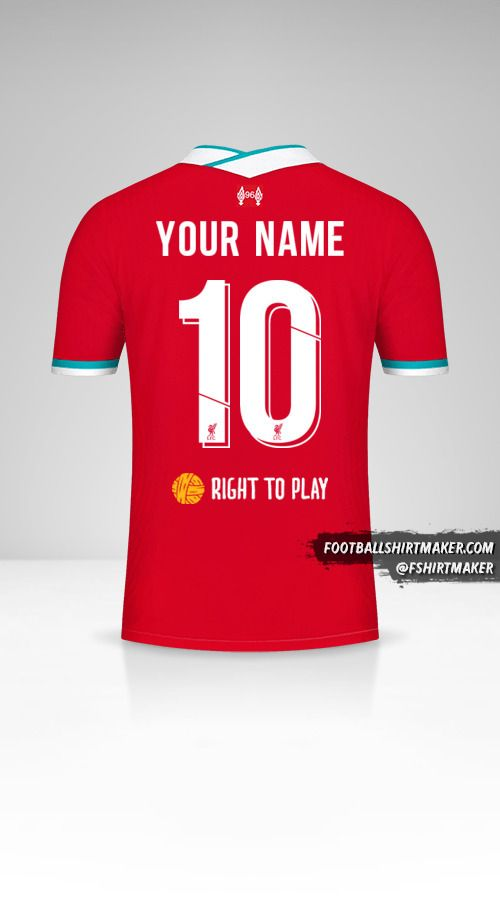 Liverpool FC 2020/21 Cup shirt number 10 your name