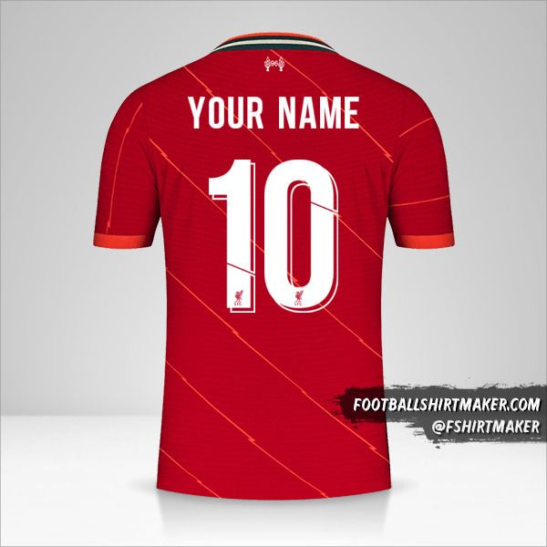 Liverpool FC 2021/2022 Cup shirt number 10 your name