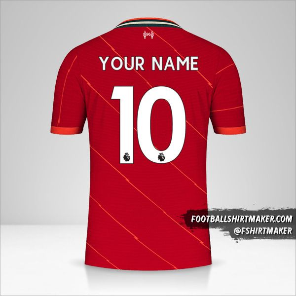 Liverpool FC 2021/2022 shirt number 10 your name