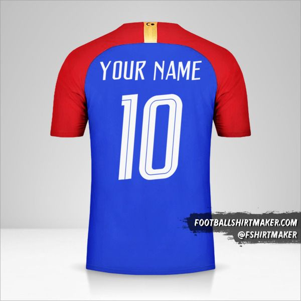 Malaysia 2018 II shirt number 10 your name