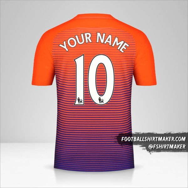 Manchester City 2016/17 III shirt number 10 your name