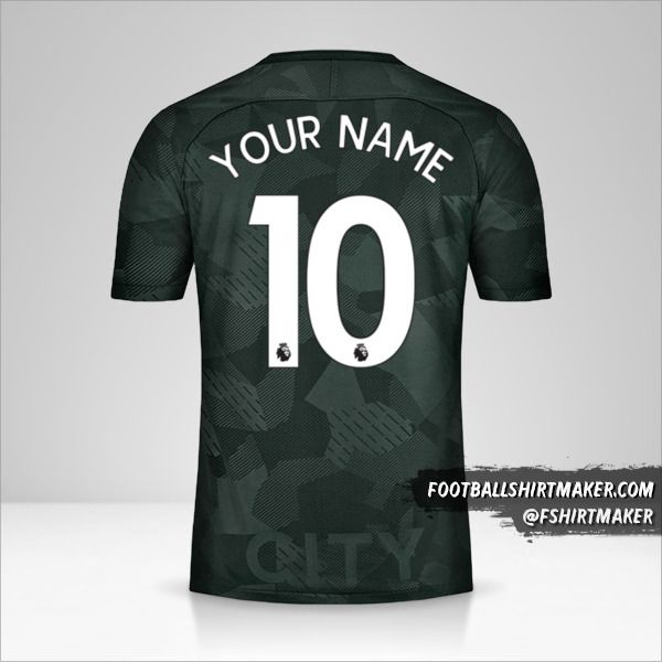 Manchester City 2017/18 III shirt number 10 your name